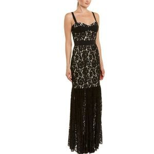 Milly Lace Bustier Maxi Dress Black 4